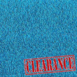 4m x 3m Urban Blue 27mm Artificial Grass Clearance