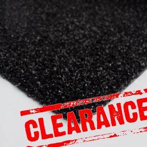 2m x 1.9m Diamond Black Artificial Grass Clearance