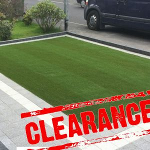 2m x 2.5m Oakhurst Stripe Artificial Grass Clearance